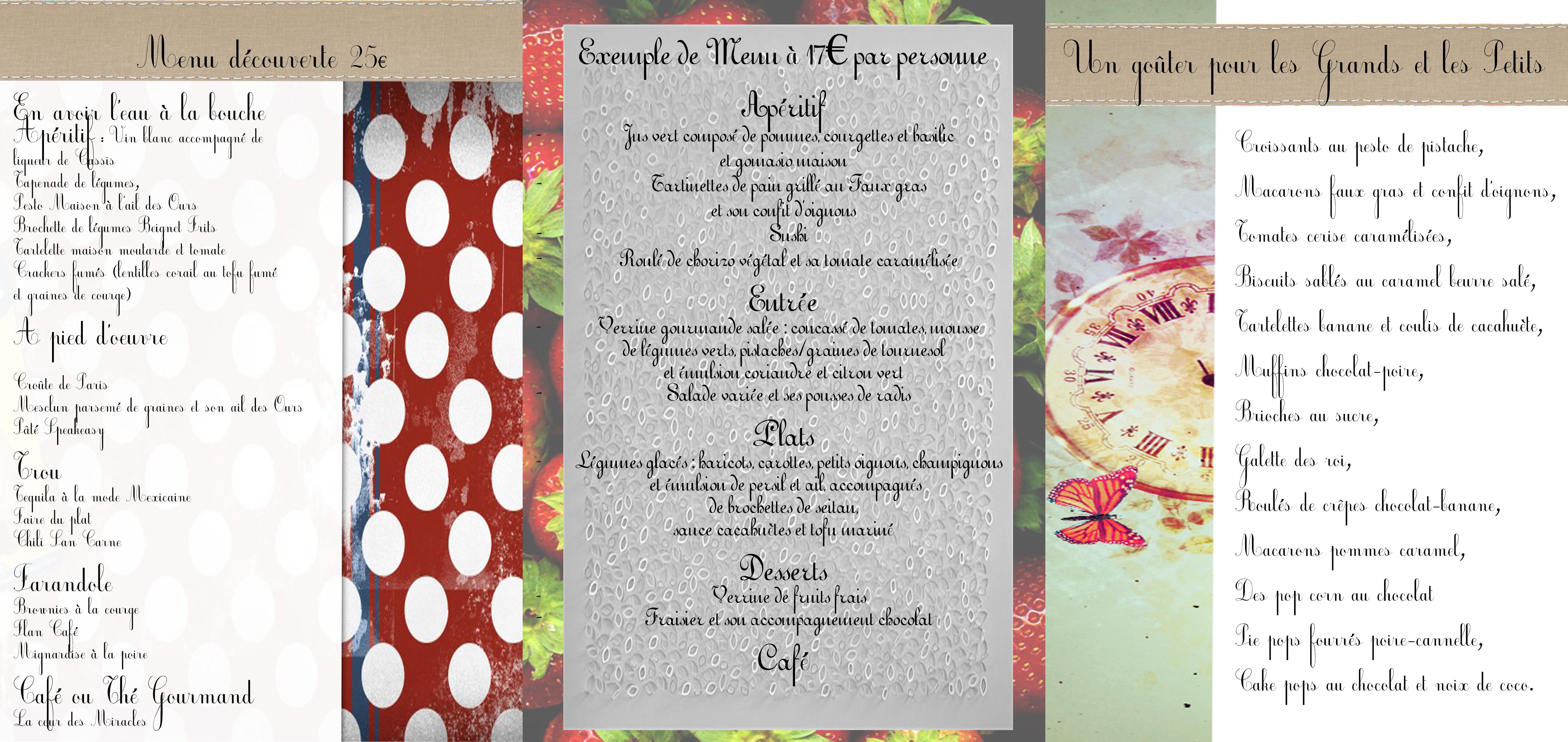 3 menu